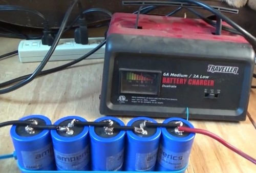 Charging Ultra Capacitors Using Car Battery Charger