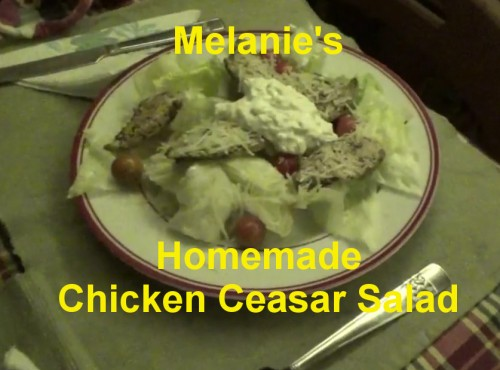 Make Chicken Ceasar Salad