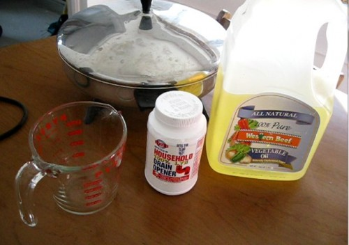 Ingredients for homemade soap