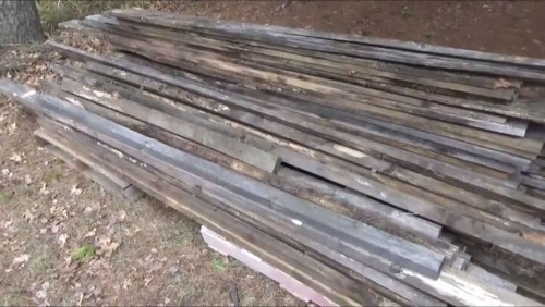 Lumber for building our walk in chicken coop