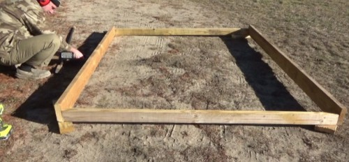 Making the solar panel rack frame