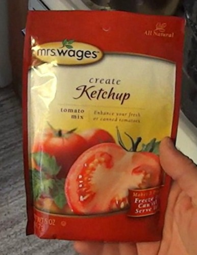 Mrs Wages all natural ketchup mix