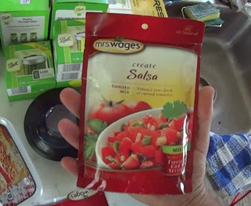 Mrs Wages all natural salsa mix