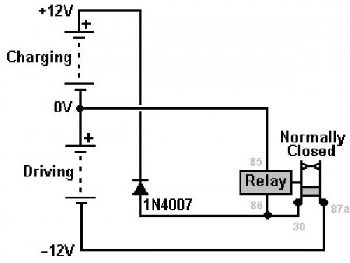 Here is the relay wiring diagram. Please refer to this diagram as we proceed with the wiring of our circuit.