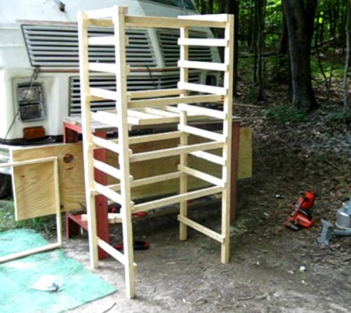 Solar food dryer frame finished