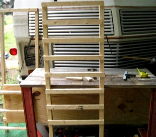 Making the solar dehydrator frame sides