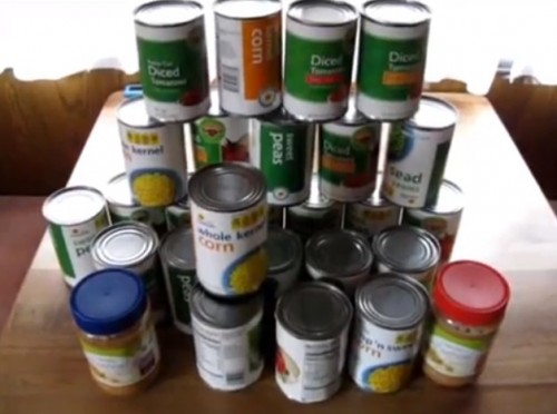 Budget food supply for emergency preparedness