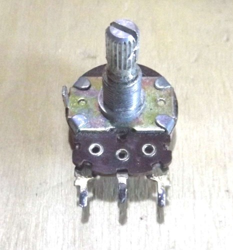 A common variable resistor also known as a Potentiometer