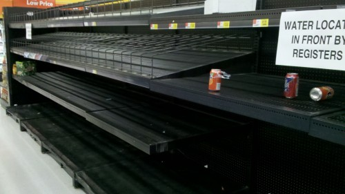 Local store water supplies sold out before hurricane hits