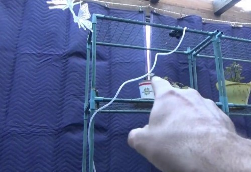 Homemade Insulating Curtains In Greenhouse