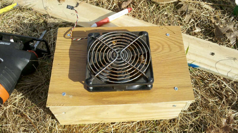 Homemade heater blower unit
