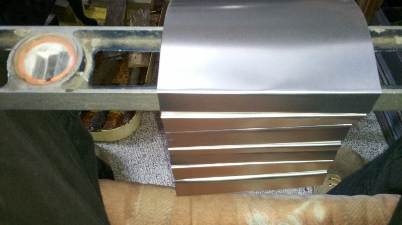 Bending flashing to make heat exchanger fins