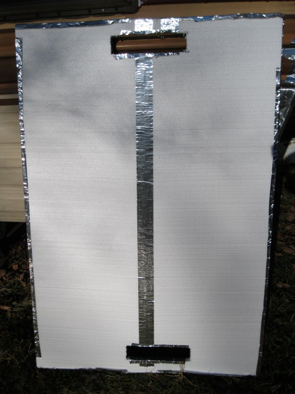 Make your own passive solar window heater