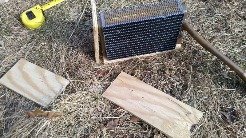 Homemade fireplace boiler heater box