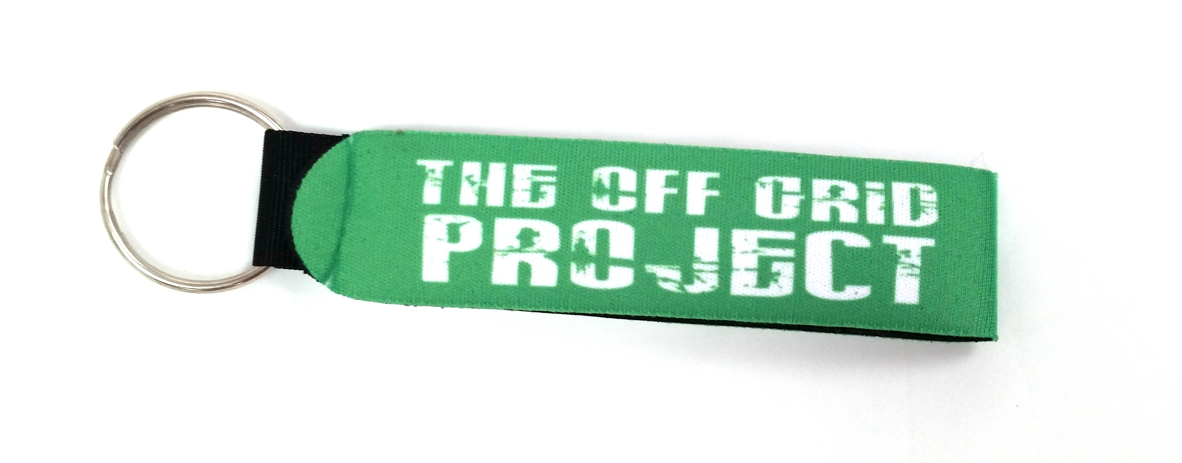 The do it yourself world merchandise the off grid project key chain green click for larger image solutioingenieria Image collections