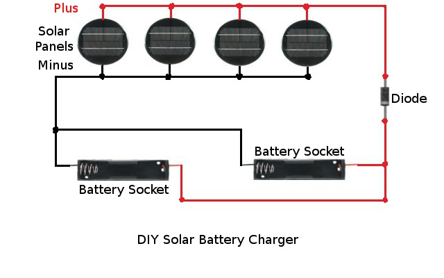 solar garden light hack make a solar battery charger homemade solar battery charger schematic diagram