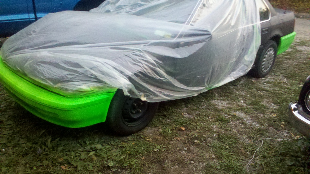 DIY car spray painting project