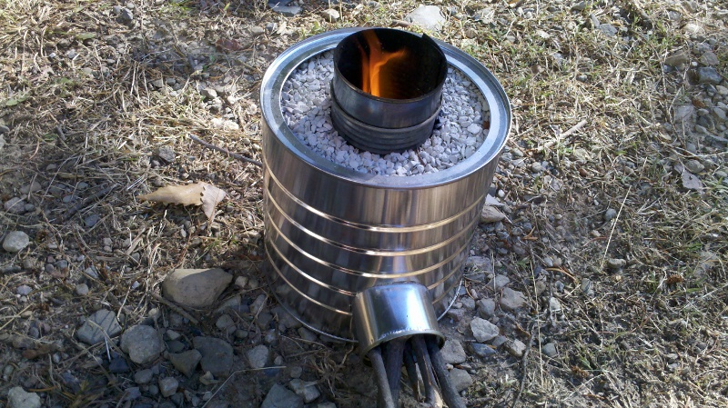 Test your new DIY rocket stove