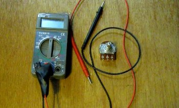 Measuring a Potentiometer with a digital meter