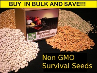 Non GMO Heirloom survival seed vaults