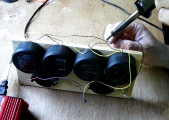Solder your solar charger wires together