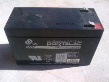 Use a 12 volt battery for backup power